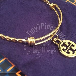 🌿🌹🌿 TORY BURCH CHARM w/ GOLD BRAIDED BANGLE